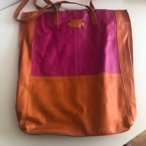 LITTLE BURGUNDY LEATHER TOTE